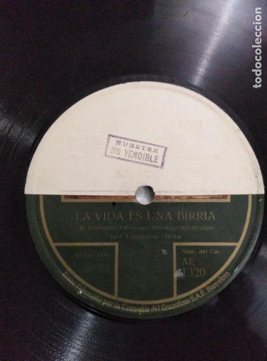 Discos de pizarra: Disco de gramófono disco de muestra - Foto 4 - 156024602