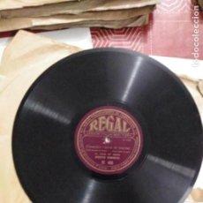 Discos de pizarra: DISCO DE GRAMÓFONO CUANDO VIENE LA NOCHE / EL PEQUEÑO SILVO. Lote 156025514