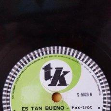 Discos de pizarra: DISCO 78 RPM - TK - HAWAIIAN SERENADERS - JIMMY LOGAN - HAWAII - FOXTROT - ES TAN BUENO - PIZARRA. Lote 156032186