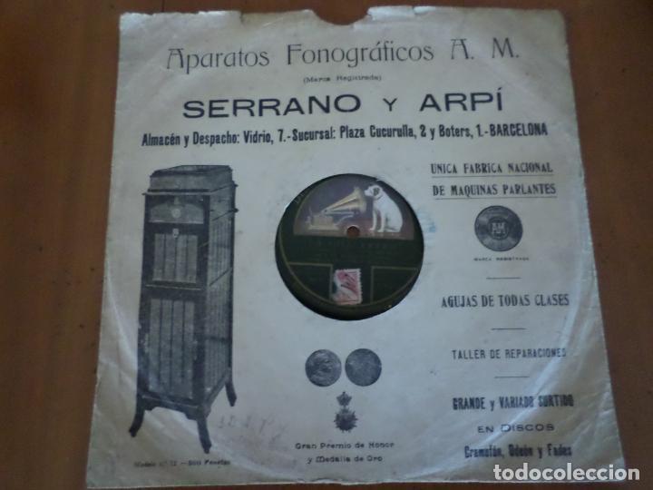 DISCO LA CHACERA Y AY PALOMITA PIZARRA (Música - Discos - Pizarra - Clásica, Ópera, Zarzuela y Marchas)