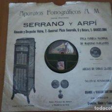 Discos de pizarra: DISCO LA CHACERA Y AY PALOMITA PIZARRA . Lote 156519162