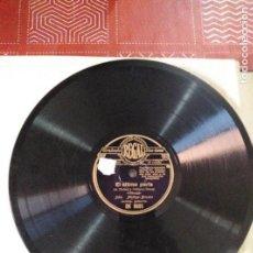 Discos de pizarra: DISCO DE GRAMOFONO EL ULTIMO PARIA / EL AGUACERO. Lote 164586125