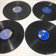 Discos de pizarra: 4 ANTIGUOS DISCOS DE PIZARRA GRAMOFONO GRAMOLA. Lote 156907582