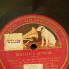 Discos de pizarra: DISCO DE PIZARRA. MARIA ARRIETA.. Lote 156977785