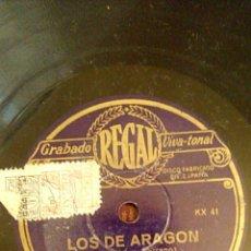 Discos de pizarra: DISCO DE PIZARRA. LOS DE ARAGON.. Lote 156978760