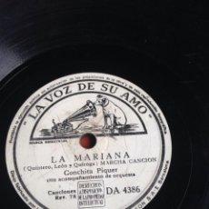 Discos de pizarra: LA MARIANA CONCHITA PIQUER. Lote 157058970