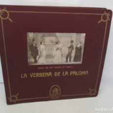 Discos de pizarra: ALBUM DISCOS PIZARRA. LA VERBENA DE LA PALOMA. ODEON. 8 DISCOS EN TOTAL FALTANDO 3. VER FOTOS. Lote 157421730