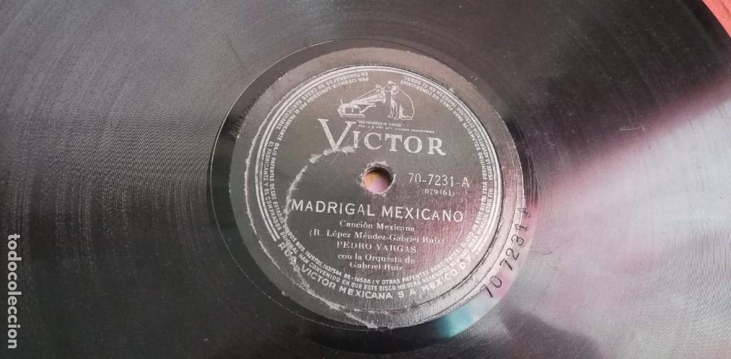 Discos de pizarra: Pizarra - Pedro Vargas Con La Orquesta De Gabriel Ruiz - Madrigal Mexícano - Edición Mexicana - Foto 2 - 142321370