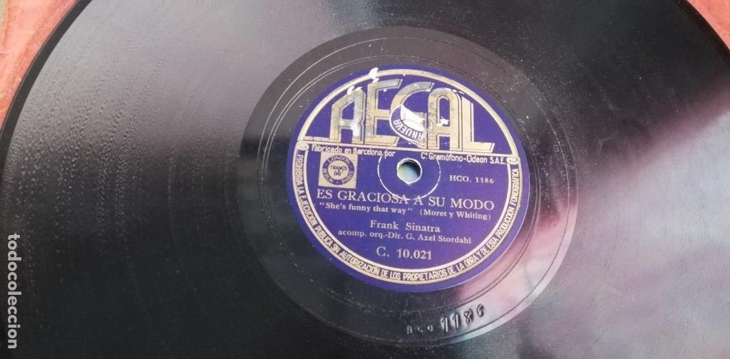 Discos de pizarra: Pizarra - Frank Sinatra - Cuando Tu Amor Te Ha Dejado / Es Graciosa A Su Modo - Edicion Española - Foto 4 - 142322842