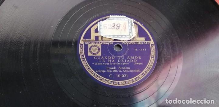 Discos de pizarra: Pizarra - Frank Sinatra - Cuando Tu Amor Te Ha Dejado / Es Graciosa A Su Modo - Edicion Española - Foto 2 - 142322842