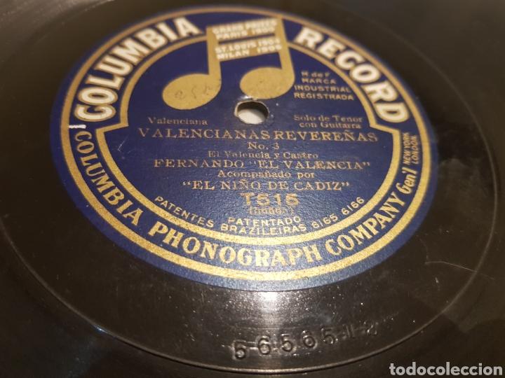 DISCO 78 RPM FERNANDO EL VALENCIA (Música - Discos - Pizarra - Flamenco, Canción española y Cuplé)