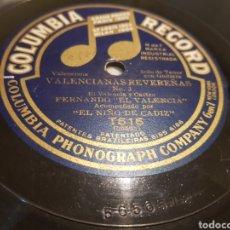 Discos de pizarra: DISCO 78 RPM FERNANDO EL VALENCIA. Lote 157756253
