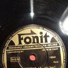 Discos de pizarra: DISCO 78 RPM - FONIT - VITTORIO PALTRINIERI - SCIORILLI - ORQUESTA - ETERNO RITORNELLO - PIZARRA. Lote 158213186