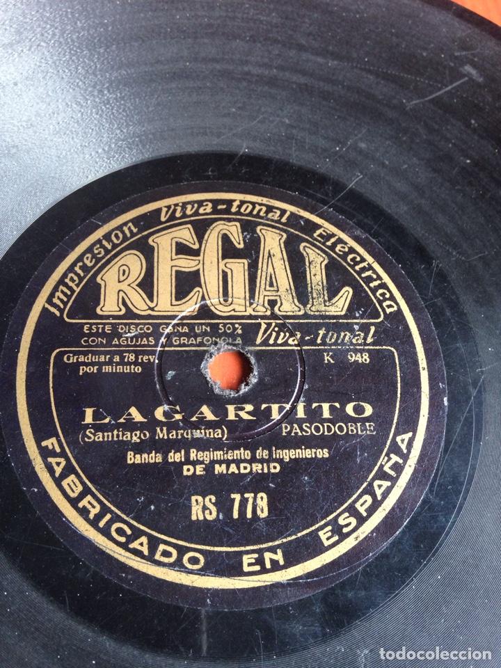 LAGARTITO BANDA DEL REGIMIENTO DE INGENIEROS (Música - Discos - Pizarra - Flamenco, Canción española y Cuplé)
