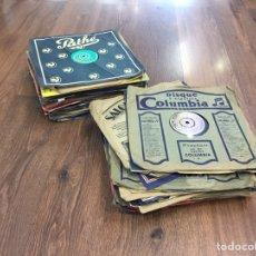 Discos de pizarra: LOTE DISCOS DE PIEDRA O PIZARRA 56 UNIDADES. Lote 158510392