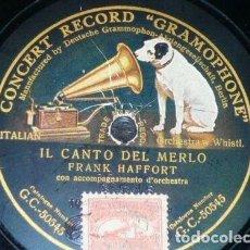 Discos de pizarra: DISCO 78 RPM - GCR GREEN - FRANK HAFFORT - ENRICO KLAUSEN - COMICO - LA RISATA - ITALIA - PIZARRA. Lote 158511138