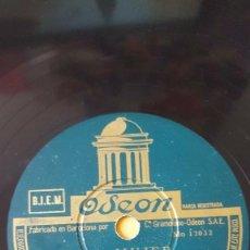 Discos de pizarra: DISCO 78 RPM - ODEON - CORRADO LOJACONO - TARANTELA - LA MUJER - BEGUINE - ITALIA - PIZARRA. Lote 158515006