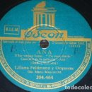 Discos de pizarra: DISCO 78 RPM - ODEON - LILIANA FELDMANN - ORQUESTA - ANA - FILM - NON AVEVO CHE TE - PIZARRA. Lote 158515906