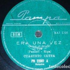 Discos de pizarra: DISCO 78 RPM - PAMPA - CUARTETO CETRA - ERA UNA VEZ - PIRIPICCHIO Y PIRIPICCHIA - CANZONE - PIZARRA. Lote 158520182