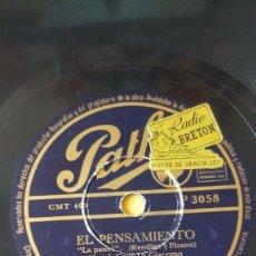 Discos de pizarra: DISCO 78 RPM - PATHE - RENATO CAROSONE - CUARTETO - EL PENSAMIENTO - MARUZZELLA - ITALIA - PIZARRA. Lote 158650926