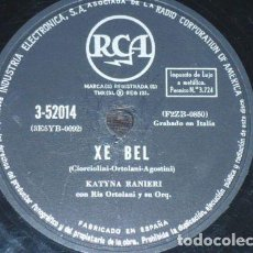 Discos de pizarra: DISCO 78 RPM - RCA - KATYNA RANIERI - ITALIA - FONTANA DI TREVI - XE BEL - PIZARRA. Lote 158652786