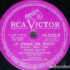 Discos de pizarra: DISCO 78 RPM - RCA VICTOR - GINO BECHI - ORQUESTA - CANZONE - SOLI, SOLI, NELLA NOTE - PIZARRA. Lote 158653986