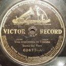 Discos de pizarra: DISCO 78 RPM - VICTOR - SCENA DAL VERO - VENDEMMIA IN TOSCANA - NOTTE FRA I MONTE - RARO - PIZARRA. Lote 158675890