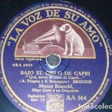 Discos de pizarra: DISCO 78 RPM - VSA - NILO OSSANI - MEME BIANCHI - ORQUESTA - BEGUINE - SERENATA ANDALUZA - PIZARRA. Lote 158679726