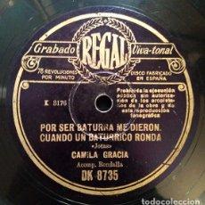Discos de pizarra: CAMILA GRACIA - JOTAS - REGAL DK8735. Lote 158772986