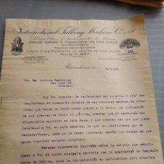 Discos de pizarra: CARTA COMERCIAL DE DISCOS ODEON 1916.. Lote 158910573