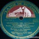 Discos de pizarra: DISCO 78 RPM - VSA - BARIMAR ORQUESTA - SALVO DANI - FLORIDA VELA - RUMBA - SLOW - FILM - PIZARRA. Lote 159107590