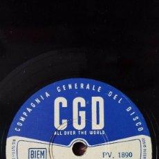 Discos de pizarra: DISCO 78 RPM - CGD - TEDDY RENO - GIANNI FERRIO - ORQUESTA - MOULIN ROUGE - FILM - NIAGARA - PIZARRA. Lote 159109666