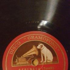 Discos de pizarra: DISCO 78 RPM - GRAMOFONO - BENIAMINO GIGLI - TENOR - SANTA LUCIA LUNTANA - SERENATA - PIZARRA. Lote 159113250