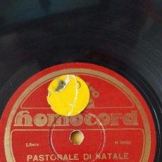 Discos de pizarra: DISCO 78 RPM - HOMOCORD - ORQUESTA - CORO - ITALIA - PASTORALE DI NATALE - PIVETTA E NINNA - PIZARRA. Lote 159115278
