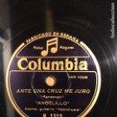 Discos de pizarra: DISCO COLUMBIA ANGELILLO.ANTE UNA CRUZ ME JURO.EL PAJARILLO. Lote 159163573