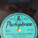 Discos de pizarra: DISCO 78 RPM - PARLOPHONE - RENATO CAROSONE - CUARTETO - NAPOLES - GIOVANNI Y SU GUITARRA - PIZARRA. Lote 159197214