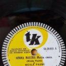 Discos de pizarra: DISCO 78 RPM - TK - NICOLA PAONE - ROBERTO GRELA - SEÑORA MAESTRA - TARANTELA - COMICO - PIZARRA. Lote 159199414