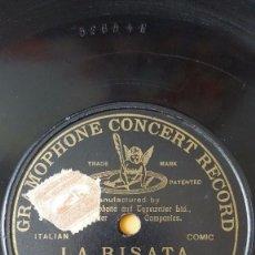 Discos de pizarra: DISCO 78 RPM - G&T BLACK - B. CANTALAMESSA - LA RISATA - CANZONETTA NAPOLITANA - COMICO - PIZARRA. Lote 159231442