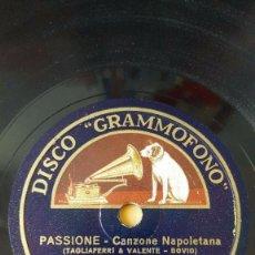 Discos de pizarra: DISCO 78 RPM - GRAMMOFONO - GIGLIO - TENOR - CANZONE NAPOLETANA - PIEDIGROTTA 1934 - PIZARRA. Lote 159232498