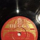 Discos de pizarra: 2 DISCOS 78 RPM - DECCA - PAUL WHITEMAN - ORQUESTA - OBERTURA CUBANA - ROSA LINDA - PIZARRA. Lote 159237490
