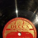 Discos de pizarra: 2 DISCOS 78 RPM - DECCA - PAUL WHITEMAN - ORQUESTA - ROSA LINDA - UN AMERICANO EN PARIS - PIZARRA. Lote 159244286