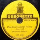 Discos de pizarra: DISCO 78 RPM - ODEONETTE 15 CM - ORQUESTA ODEON - PADDLIN MADELIN HOME - REMEMBER - PIZARRA. Lote 159258294