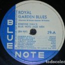 Discos de pizarra: DISCO 78 RPM - BLUE NOTE - EDMOND HALL´S BLUE NOTE JAZZ MEN - ROYAL GARDEN BLUES - PIZARRA. Lote 159280522