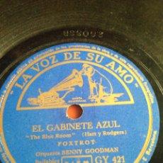 Discos de pizarra: EL GABINETE AZUL FOXTROT. Lote 159677033