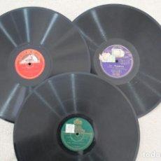 Discos de pizarra: LOTE 3 DISCOS PIZARRA PARA GRAMOFONO, MARCHA NUPCIAL, COBLA BARCELONA, ROSAMUNDA, EL GUITARRICO. Lote 159729362