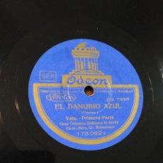 Discos de pizarra: VALS EL DANUBIO AZUL. Lote 159791354