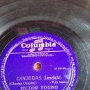 Discos de pizarra: CANDILEJAS VICTOR YOUNG. Lote 160153262