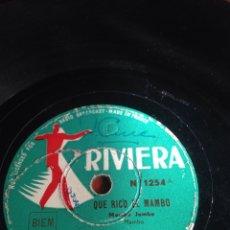 Discos de pizarra: QUE RICO EL MAMBO. Lote 160154322