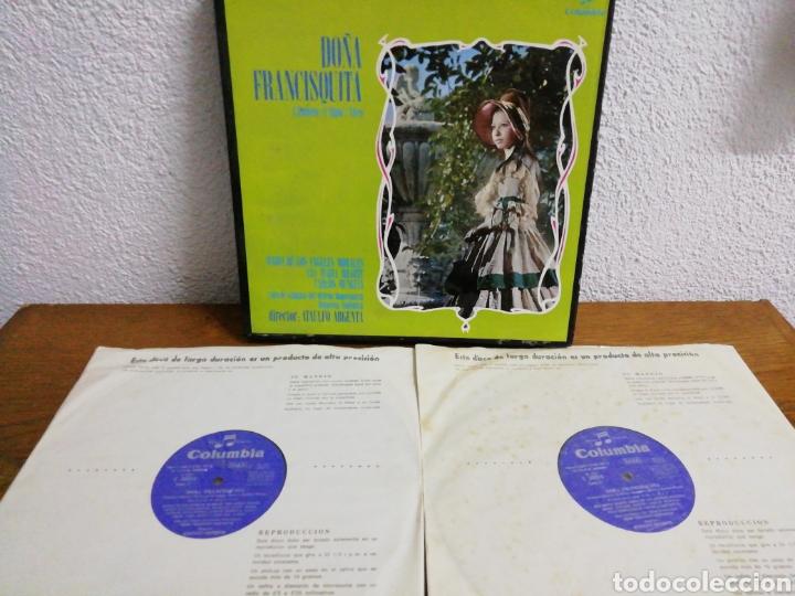 Discos de pizarra: Obra de dos discos a doble cara. Doña Francisquita, director Atalulfo Argenta. Columbia. - Foto 3 - 160231249