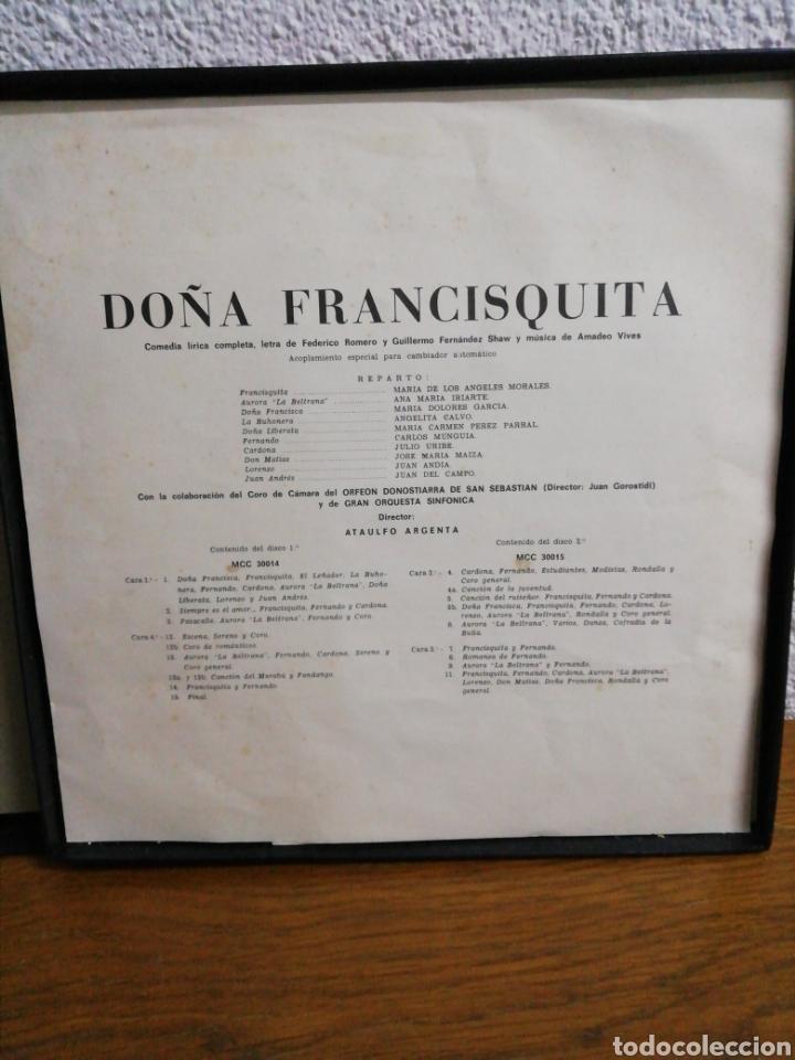 Discos de pizarra: Obra de dos discos a doble cara. Doña Francisquita, director Atalulfo Argenta. Columbia. - Foto 2 - 160231249